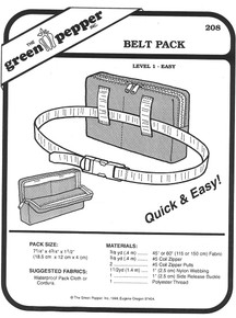 Sewing Pattern -  Belt Pack Pattern, Hiking Pack Pattern, Travel Bag Pattern, Day Pack Pattern Green Pepper Patterns