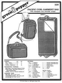 Sewing Pattern - Pacific Curl Garment Bag Pattern, Green Pepper Patterns