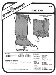 Sewing Pattern - Cross Country Gaiter Pattern for Children and Adults - Green Pepper Patterns