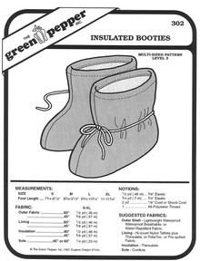 Sewing Pattern - Adults Polar Fleece Booties Pattern - Green Pepper Patterns