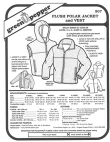 Sewing Pattern - Unisex Polar Fleece Jacket & Vest, Unisex Pattern, Green Pepper Patterns
