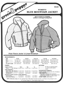 Sewing Pattern - Women's Blue Mountain Jacket Pattern, Green Pepper Patterns