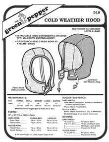 Sewing Pattern - Children's Cold Weather Hood Pattern - Green Pepper Patterns