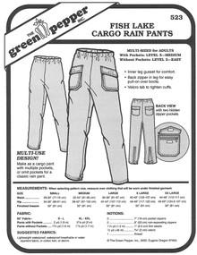 Sewing Pattern - Unisex Pattern, Fish Lake Cargo Pants Pattern, Green Pepper Patterns