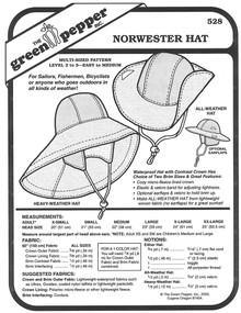 Sewing Pattern - Unisex Norwester Hat Pattern with Ear Flaps - Green Pepper Patterns