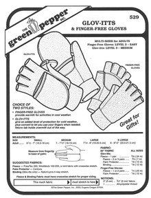 Sewing Pattern - Unisex Glov-itts/Finger-Free Glove Pattern- Green Pepper Patterns