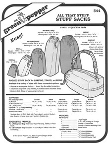 Sewing Pattern - All That Stuff, Stuff Sack Pattern, Green Pepper Patterns