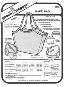 Sewing Pattern - Wave Bag Pattern, Green Pepper Patterns