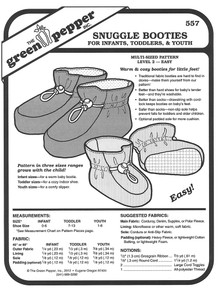 Sewing Pattern - Baby Pattern, Toddler Pattern, Bootie Pattern, Green Pepper Patterns