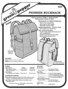 Sewing Pattern - Pioneer Rucksack Pattern, Back Bag Pattern, Green Pepper Patterns