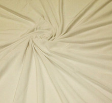 Soft Jersey Knit Fabric - Matte Ivory Four way Stretch Spandex Fabric