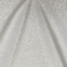 Stretch Velvet Fabric by the Yard-No Shed Glitter Velvet, Four Way Stretch Silver on White Glitter Velvet