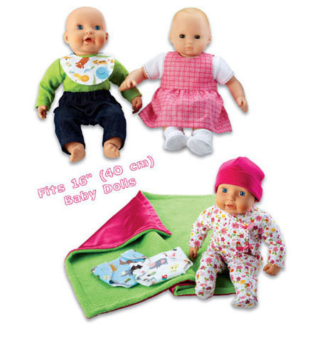 Sewing Pattern - Doll Clothes Pattern, Baby Doll Pattern Kwik Sew #K3834