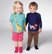 Sewing Pattern - Toddler Pattern, Children's Pattern, Pants Pattern, Shorts Pattern, Shirt Pattern- Kwik Sew #K0133