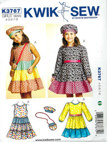 Sewing Pattern - Girls Dress, Hat and Bag Kwik Sew # K3767