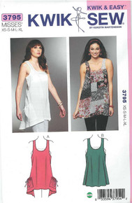 Sewing Pattern - Misses' Tops Kwik Sew # K3795