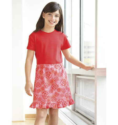 Sewing Pattern - Girls Pattern, Skirt Pattern Two Views, Kwik Sew #K3541