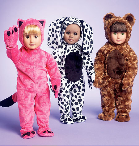 Sewing Pattern - Doll Clothes Pattern, Costume Pattern Kwik Sew #K3966