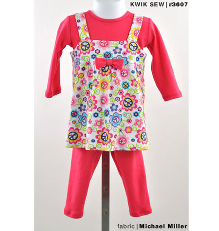 Sewing Pattern - Baby Pattern, Toddler Pattern, Legging Pattern, Top Pattern, Jumper Pattern- Kwik Sew #K3607