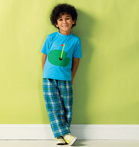 Sewing Pattern - Boys' Top Pattern, Shorts Pattern, Pants Pattern, Kwik Sew #K3999