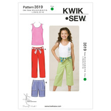 Sewing Pattern - Girls Pattern, Shirts Pattern, Pants Pattern, Kwik Sew #K3519