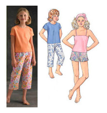 Sewing Pattern - Girls Pattern, Sleepwear Pattern, Kwik Sew #K3477