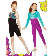Sewing Pattern - Childrens Pattern, Unitard Pattern, Two Views - Kwik Sew #K3887