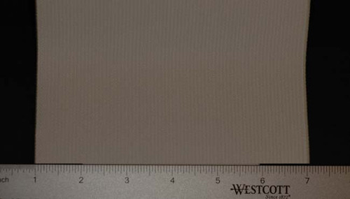 Extra Wide Elastic - Cotton Gabardine Gore Laid Flat with Ruler to Show Width