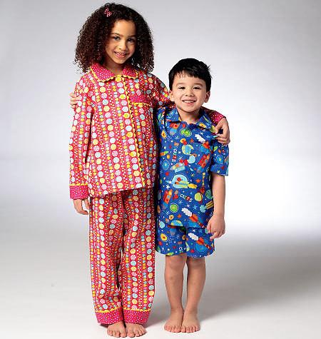 Sewing Pattern - Girls Pattern, Children's Pajamas Pattern, Kwik Sew #K3945
