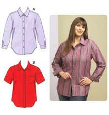 Sewing Pattern - Womens (Plus) Pattern, Shirts Pattern, Kwik Sew #K3586