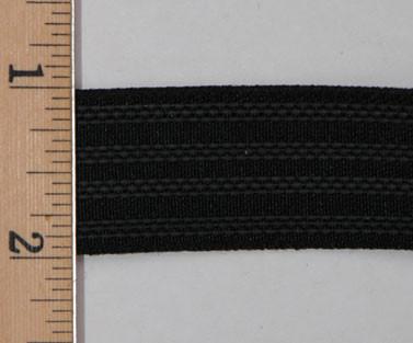 "1"" Gripper Elastic - Black Polyester Gripper Elastic"