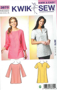 Sewing Pattern - Misses' Tunics Pattern Kwik Sew # K3870