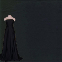 Matte Stretch Fabric - Four way Stretch Nylon Spandex Fabric- Black Fabric with Fabric Draped on Dress Form