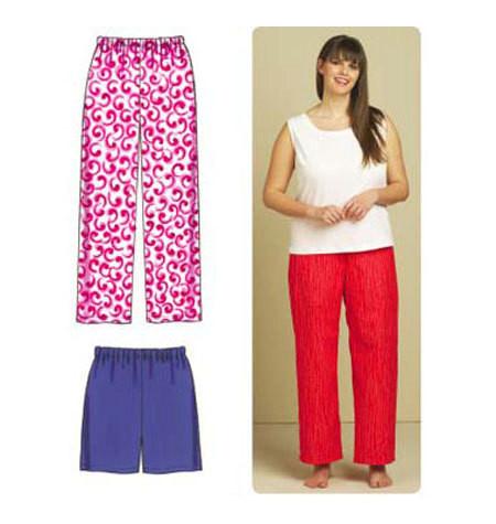 Sewing Pattern - Womens (Plus) Pattern, Sleep Pants Pattern, Sleep Shorts Pattern, Kwik Sew #K3588