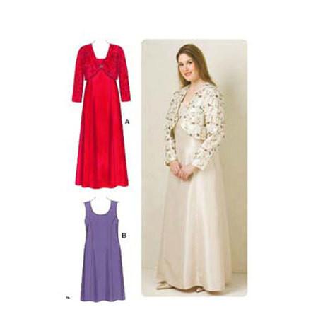 Sewing Pattern - Womens (Plus) Pattern, Dresses Pattern, Jacket Pattern, Kwik Sew #K3514