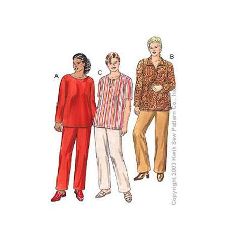Sewing Pattern - Womens (Plus) Pattern, Tunics Pattern, Pants Pattern, Kwik Sew #K3203