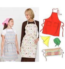 Sewing Pattern - Apron Pattern, Apron Pattern, Scarf Pattern, Kwik Sew #K3480