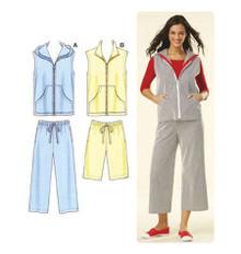 Sewing Pattern - Misses Pattern, Pants Pattern, Shorts Pattern, Vest Pattern, Kwik Sew #K3615