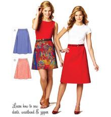 Sewing Pattern - Misses Pattern, Skirts Pattern, Kwik Sew #K3877