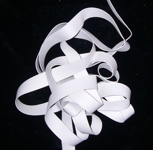 Strip Rubber Elastic - White