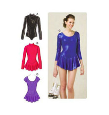 Sewing Pattern - Womens Sewing Pattern for Leotards with Attached Skirts Three Views - Kwik Sew #K3502
