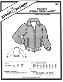 Sewing Pattern - Women's Canyon Creek Jacket by Green Pepper Patterns