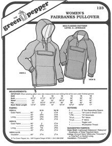 Sewing Pattern: Women's Fairbanks Pullover Jacket by Green Pepper Patterns