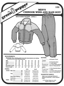 Sewing Pattern - Men's Wind and Rain Suit for Jogging or Other Winter Outside Activities, The Chinook by Green Pepper Patterns