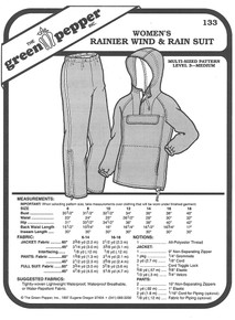 Sewing Pattern: Women's Wind and Rain Jogging or Winter Outdoors Pants, The Rainier by Green Pepper Patterns