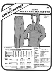 Sewing Pattern - Men's Wind and Rain Suit for Jogging or Other Winter Outside Activities, The Rainier by Green Pepper Patterns