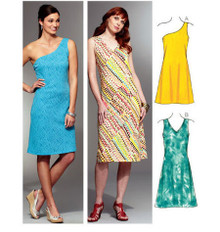 Sewing Pattern - Misses Pattern, Pull Over Sheath Dress Pattern in Two Views #K3778
