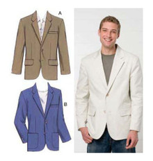 Sewing Pattern - Mens Pattern, Blazer Pattern, Kwik Sew #K3485