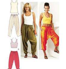 Kwik Sew Pattern - Misses Belly Dance Pants, Ethnic Pants 3701