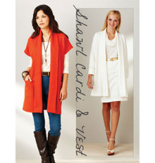 Sewing Pattern - Womens Pattern for Shawl Cardigan Pattern - Kwik Sew #K3916